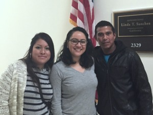 Policy Council Secretary Leticia with Florida farmworker parent and CHC staff on the Hill.