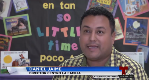 Daniel Jaime's interview by Telemundo was aired as part of the story.