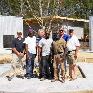 ECMHSP Maintenance Staff with architect Ted Hoffman: (from left to right) Tony Ponds, Marzell Hall, Ted Hoffman, Eugene Mitchell, Vincent Barksdale, Greg Stone, Mike Wilcox