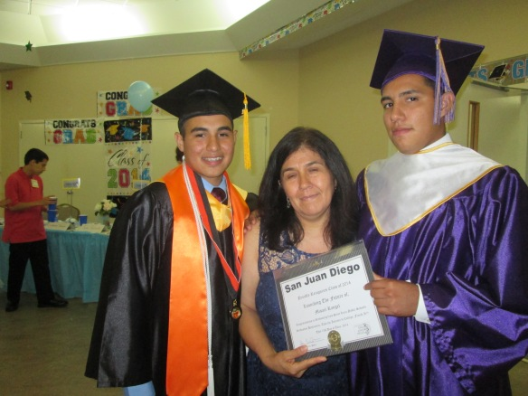 Misael graduated in the top 10 percent of his high school class and earned an IB diploma.