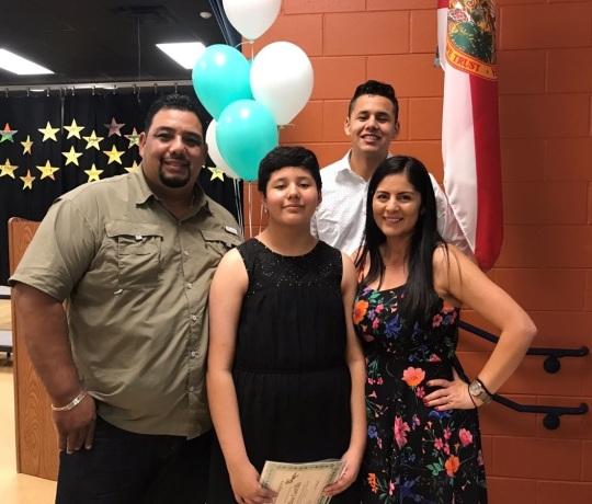 Idalia and family